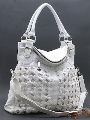 white fashion handbag