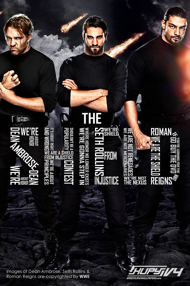 wrestle reality new the shield wallpaper