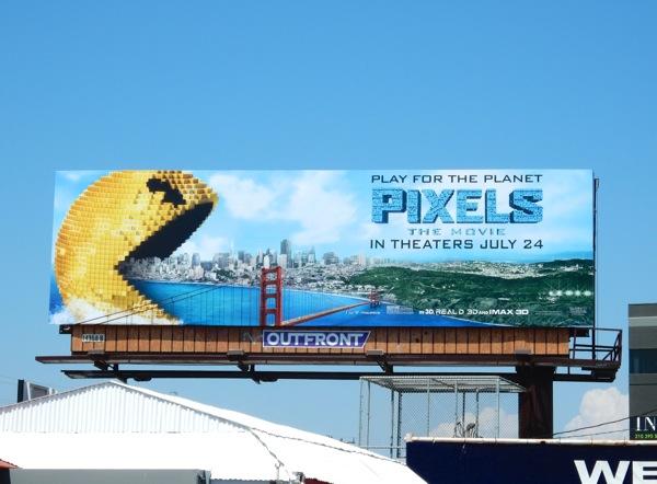 Pixels The Movie billboard