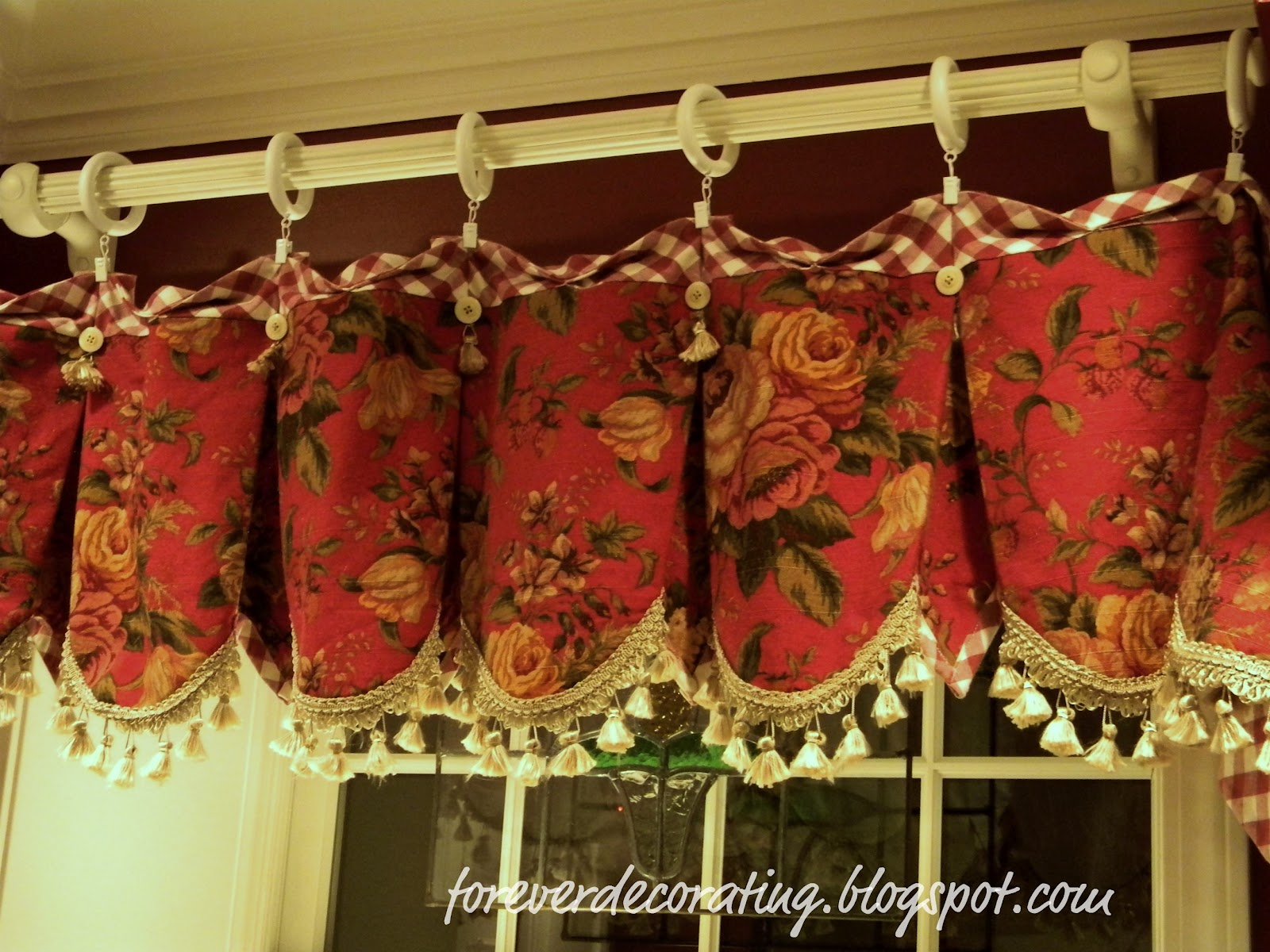 forever decorating new red toile valances