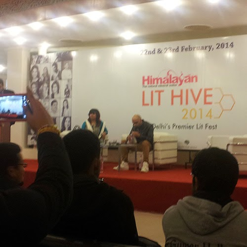 Raghu Ram and Aastha Atray at Lit Hive 2014