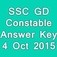 SSC Constable Answer Key 2015