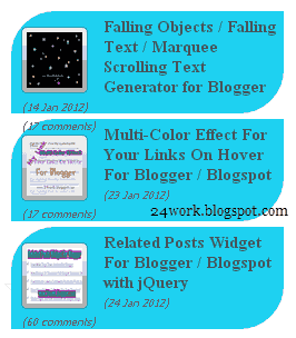 Stylish Animated Blogger Recent Posts Widget