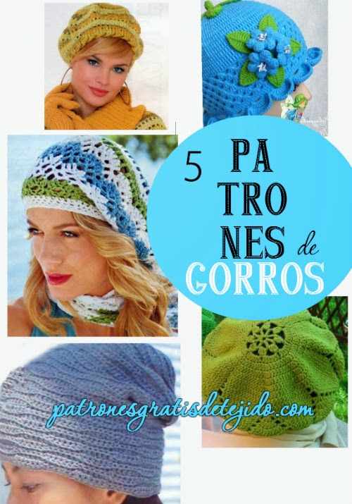 5 Patrones de Gorros tejidos: diagramas, video y tabla de medidas ...