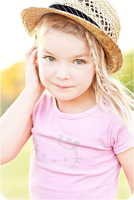 Close up photograph of young girl taken during a family photo shoot