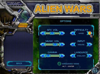 alien wars setting game
