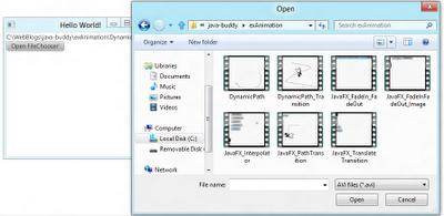 JavaFX 2.0 FileChooser