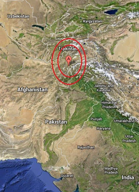 Magnitude 4.1 Earthquake of Ashkasham, Afghanistan 2014-09-05