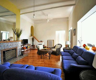 Modern blue living room furniture set