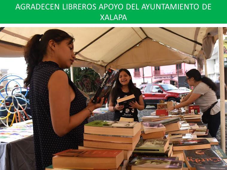 AGRADECEN LIBREROS APOYO DEL AYUNTAMIENTO DE XALAPA