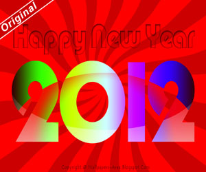 Free Download Colorful Happy New Year 2012 Original Wallpapers Area Design