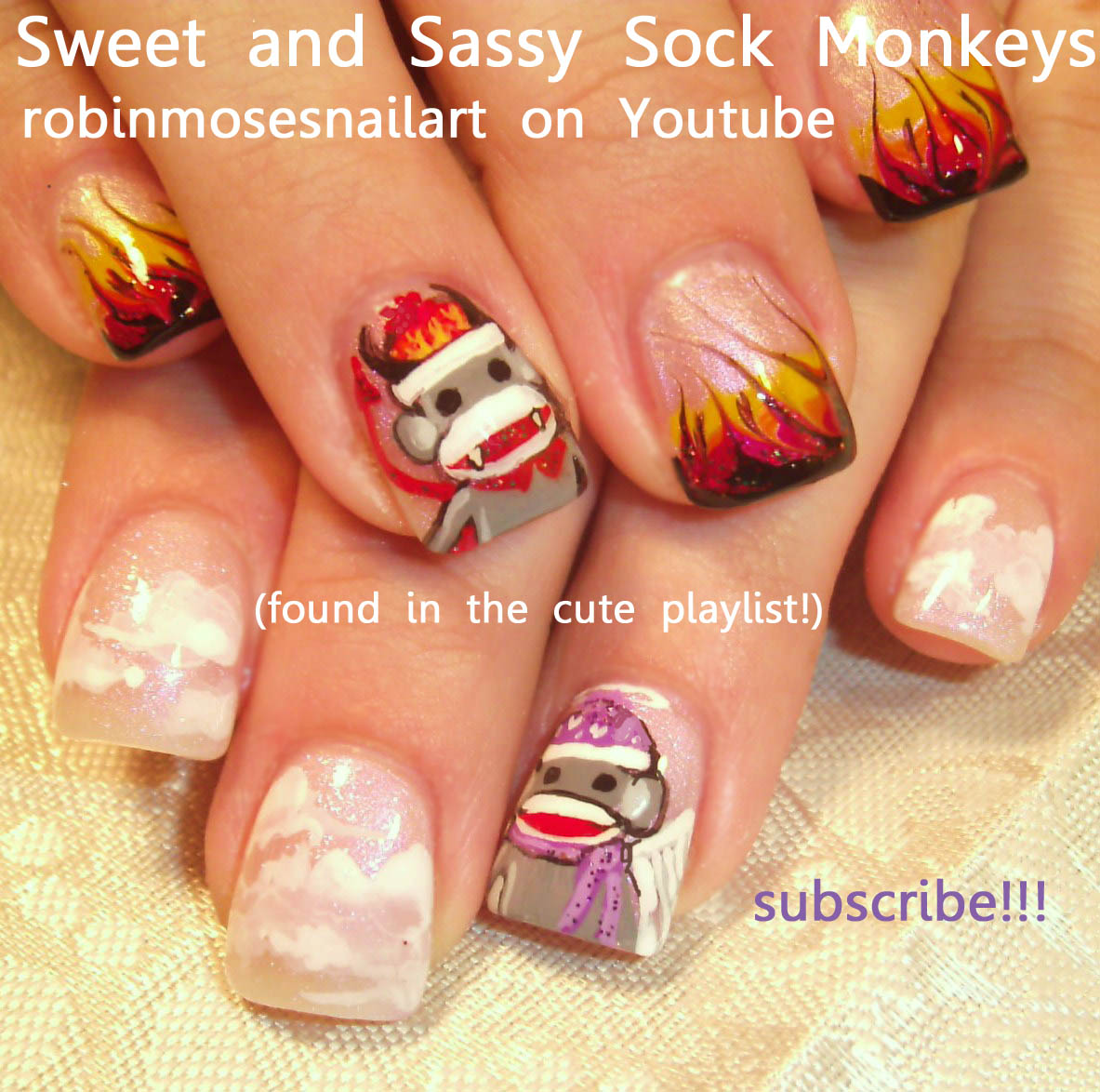 SOCK MONKEY NAILS robin moses nailart…