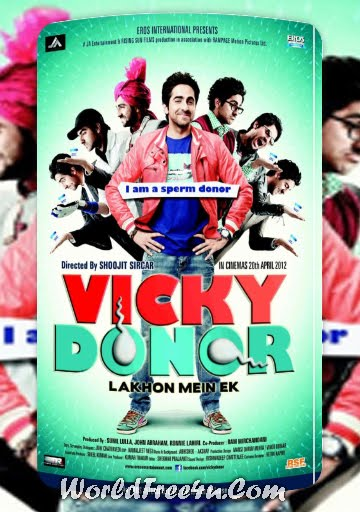 Poster Of Hindi Movie Vicky Donor (2012) Free Download Full New Hindi Movie Watch Online At worldfree4u.com