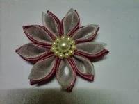 BROS BUNGA KANZASHI  F01 (handmade) terbuat dari satin dan organdi