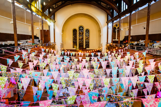 Wedding bunting and festoon lights by Theme-Works Weddings