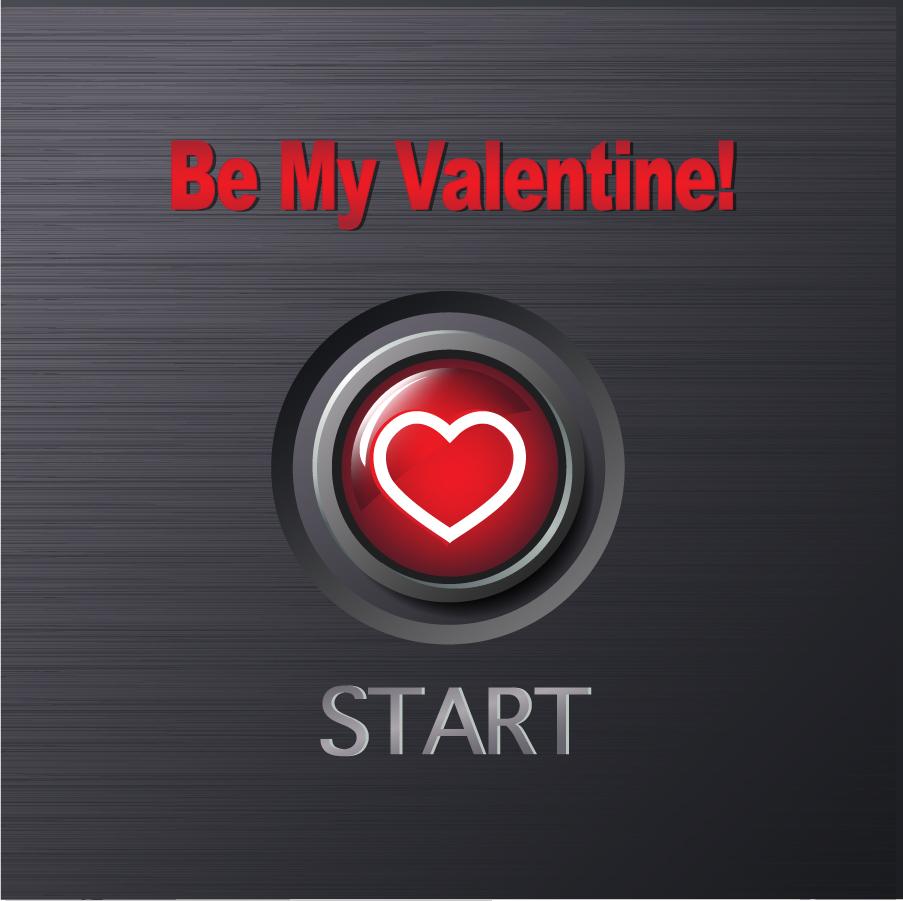 バレンタインデーのハート型ボタン Heart romantic valentine vector elements イラスト素材1