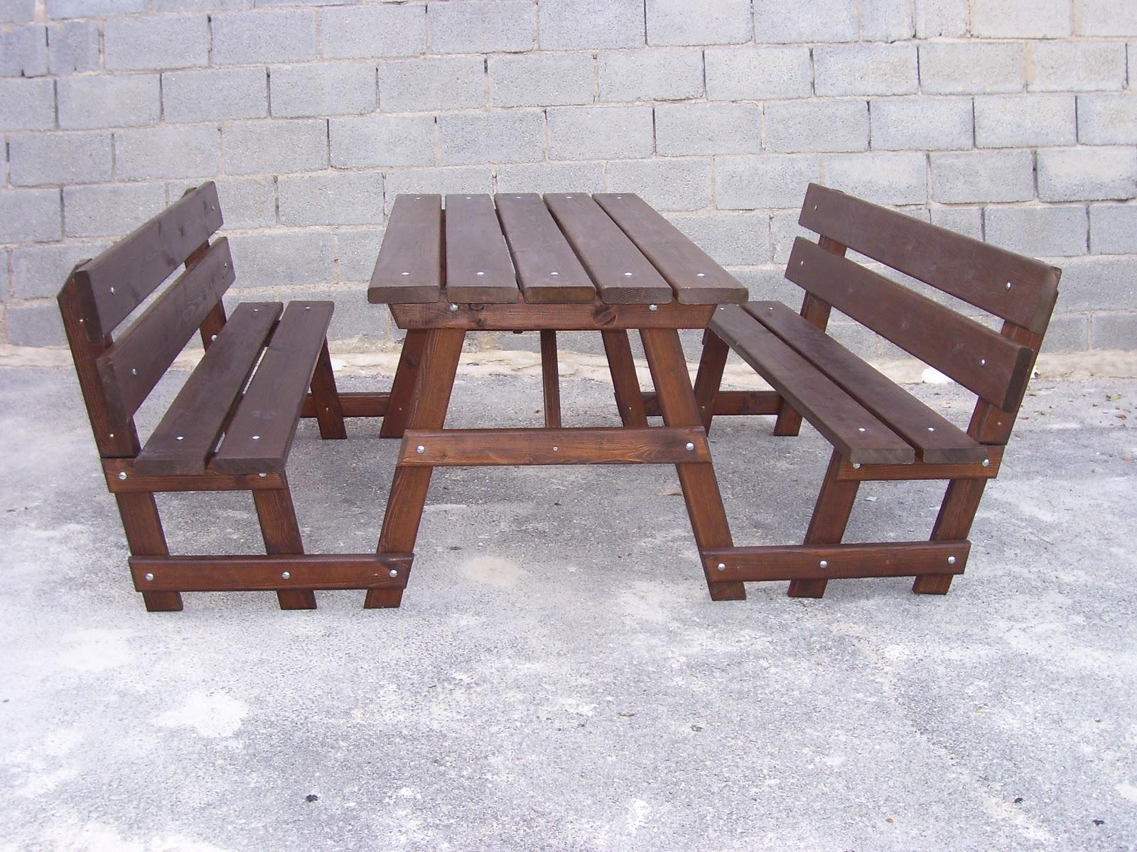 Www mesasdepicnic com mesas de picnic - Mesa con bancos ...