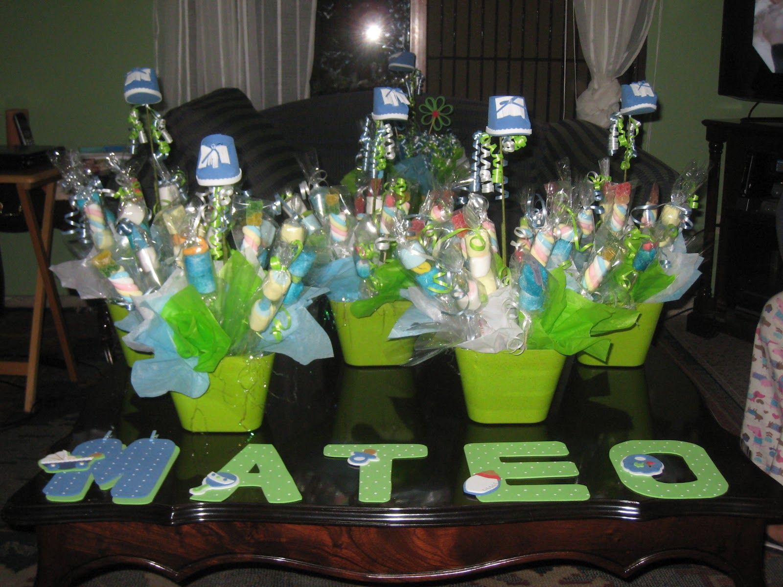 Centros de mesa con ones para baby shower Imagui