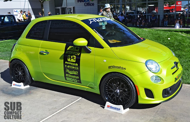 Bright Fiat 500 from the 2013 SEMA Show