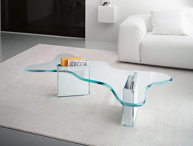 Living Room Elegantes Con Mesas De Centro De Cristal