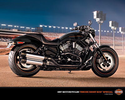 Harley Davidson Night Road Wallpapers