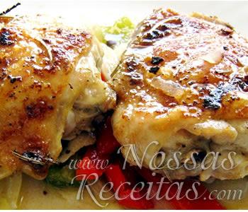 receita deliciosa de frango assado