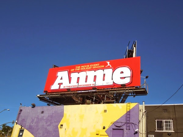Annie film remake billboard