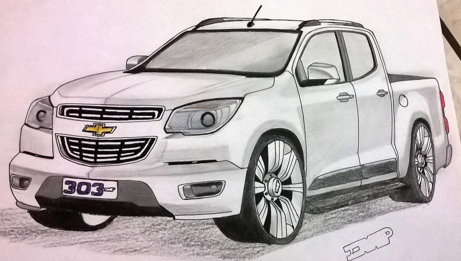 Favoritos Chevrolet S10 Rebaixada | Ismael Desenhos JW04