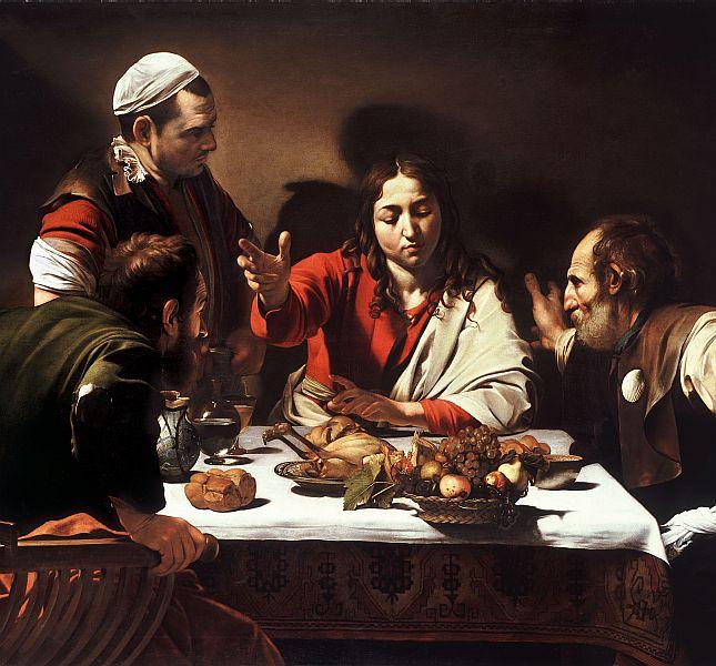 Caravaggio's Emmaus Road Disciples