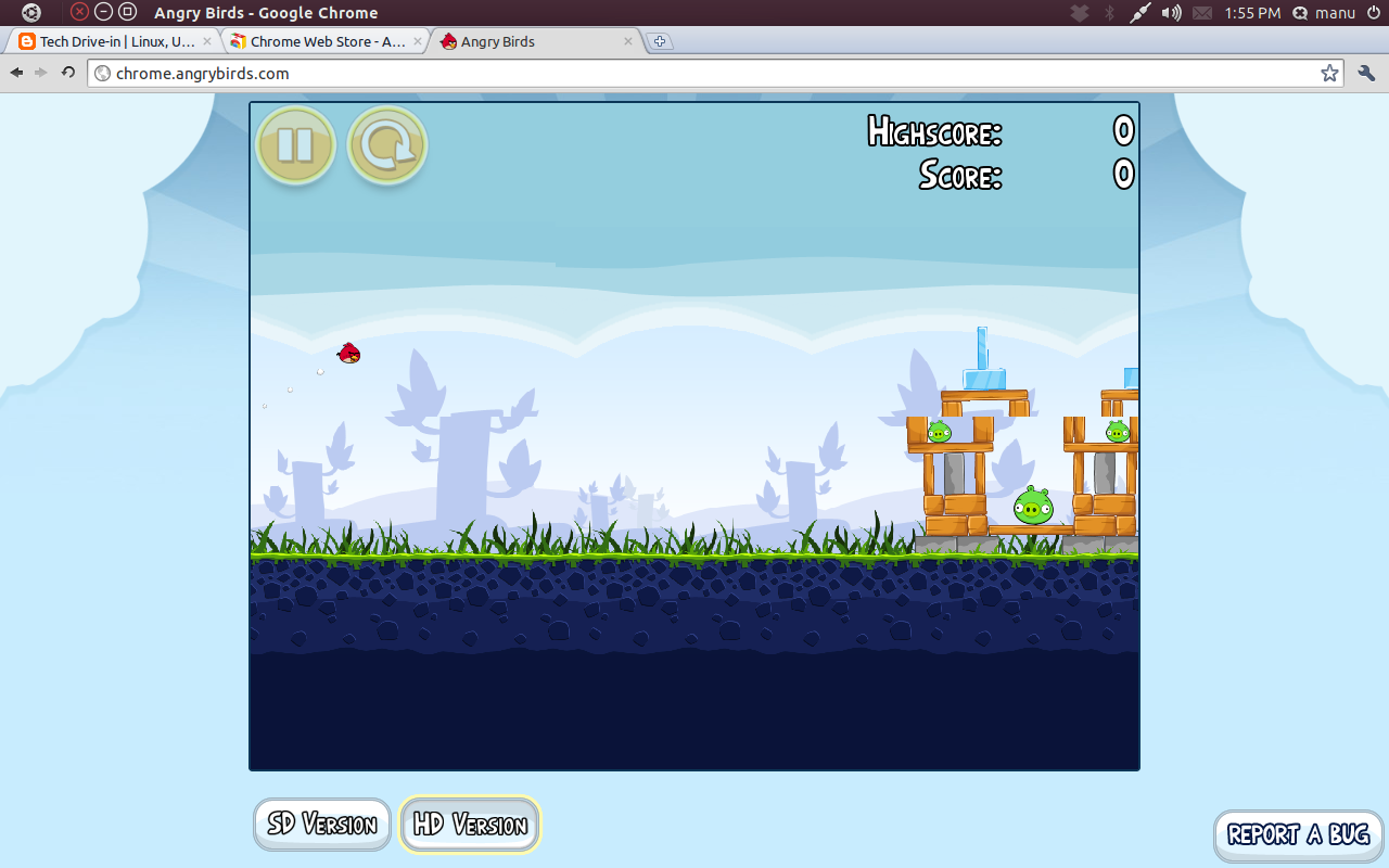 Easiest way to play angry birds in ubuntu angry birds ubuntu linux voltagebd Choice Image