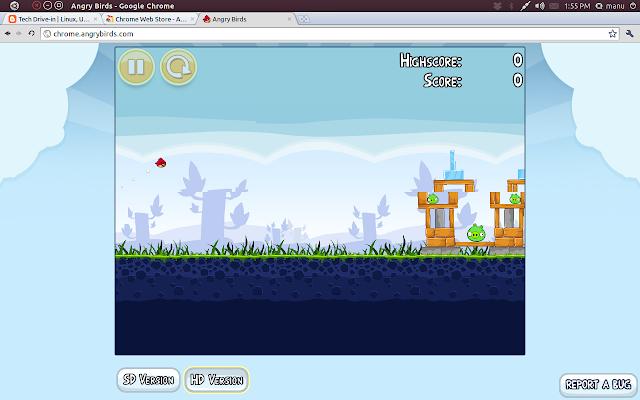 Angry Birds Ubuntu Linux