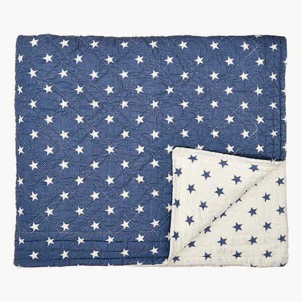 Szteppelt ágytakaró Star Indigo