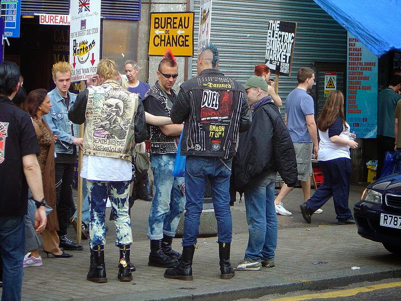camden town punk, skin head, and gothic
