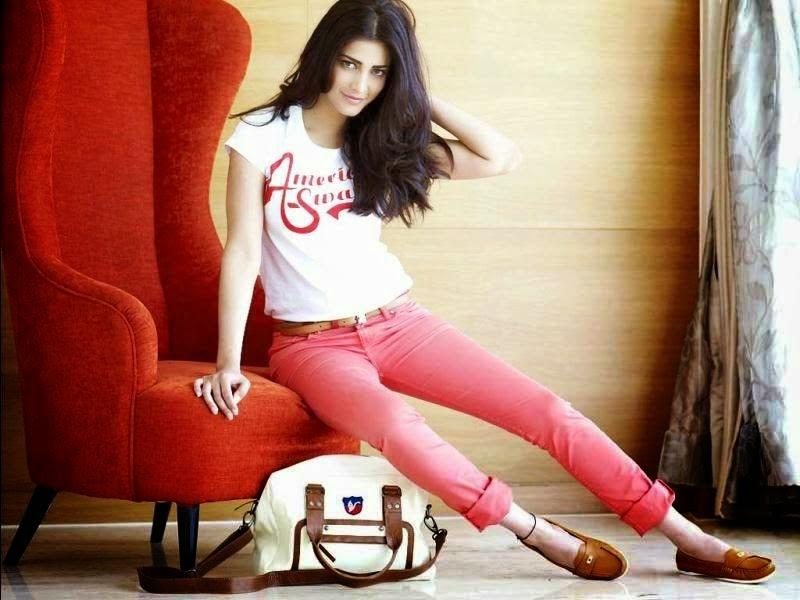 Shruti Hassan pink pant photo shoot PHOTOS