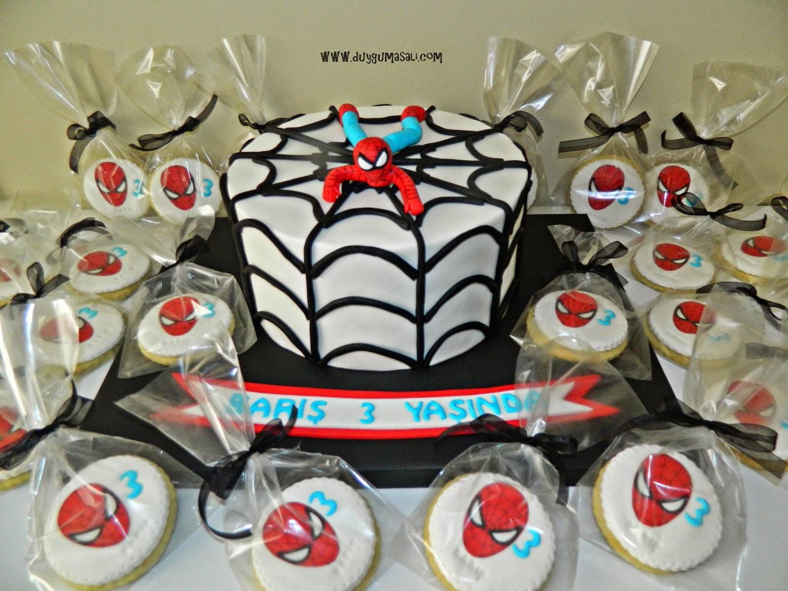 edirne örümcek adam doğum günü pasta