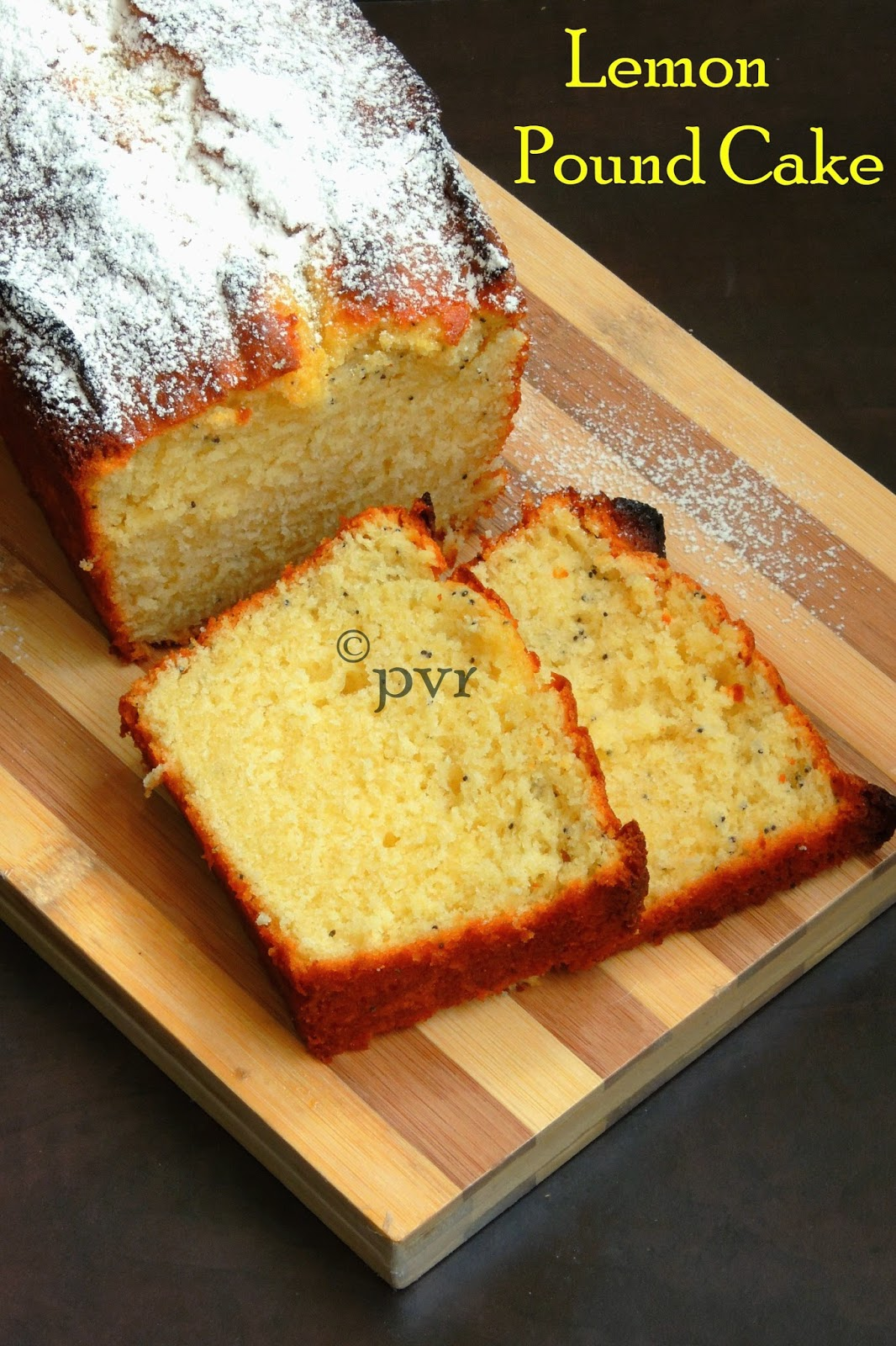 Lemon poppy seeds cake, Lemon Pound cake