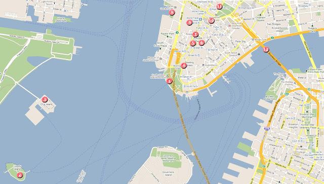 Mapa de la ruta por Nueva York, dia 2