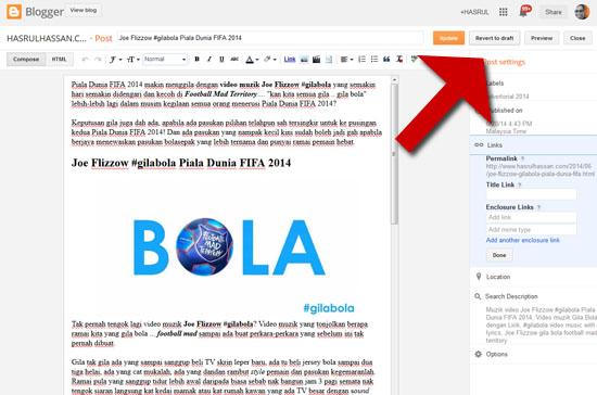 Cara Tukar Permalink untuk SEO Blogspot