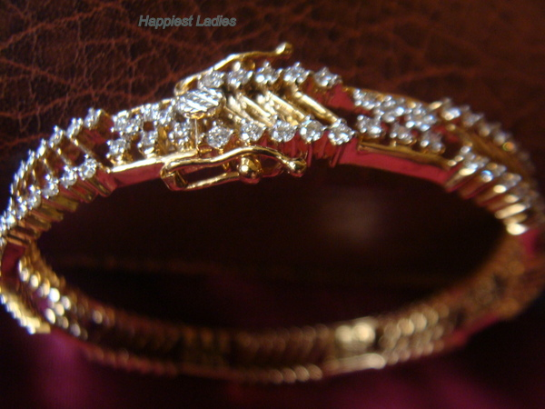 Designer Diamond Bangle+diamond bangle