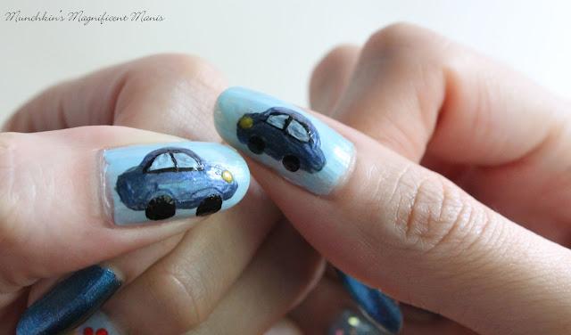 Volkswagen Beetle Nail Design