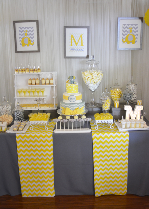 A Modern Chic Elephant Baby Shower