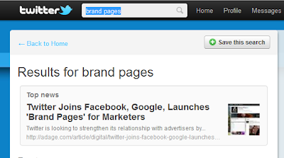 Twitter Launches Brand Pages for major Brands
