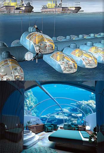 Hoteles novedosos islas fidji un lujo bajo el agua for Imagenes de hoteles bajo el agua