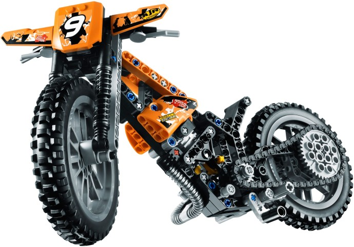 lego technic motorcycles new 2013 moto cross bike 42007 pictures price and video. Black Bedroom Furniture Sets. Home Design Ideas