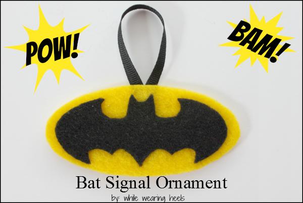 While Wearing Heels: Bat Signal Ornament