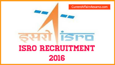 ISRO Recruitment 2016