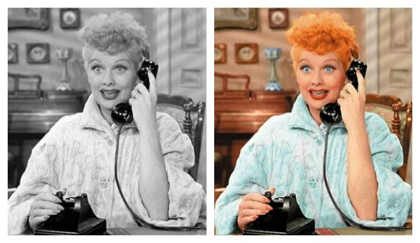 Even to this day i still prefer watching i love lucy and all my favorite old movies in black and white