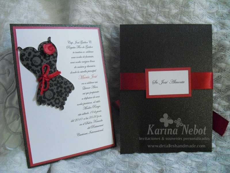 Paper Creations by Karina: Moulin Rouge Invitations