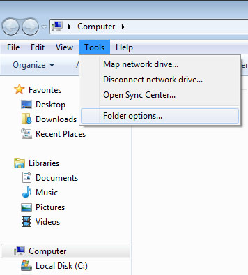 how to show hidden files and folders