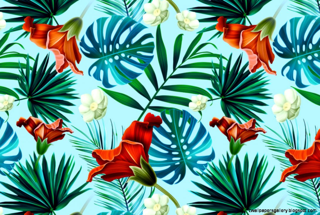 Tropical pattern Jungle palm leaves  Jungles Palms and Tropical